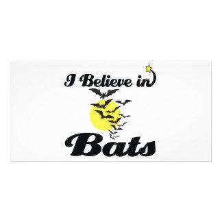 i believe in bats personalised photo card