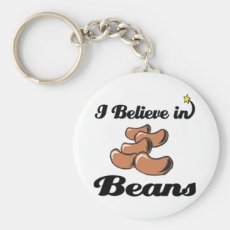 i believe in beans key ring