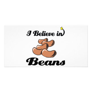 i believe in beans photo card template