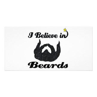 i believe in beards photo card template