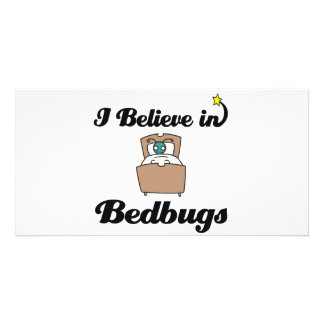 i believe in bedbugs personalized photo card
