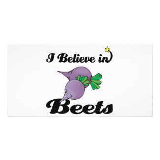 i believe in beets photo card template