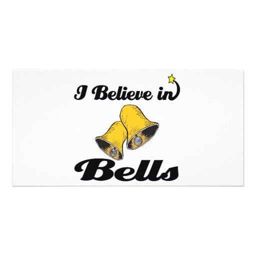 i believe in bells custom photo card
