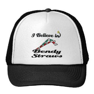 i believe in bendy straws cap