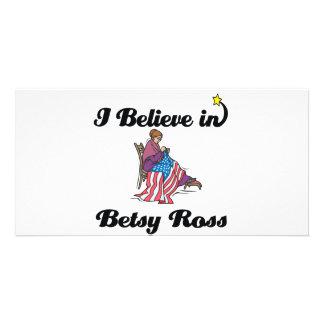 i believe in betsy ross custom photo card