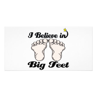 i believe in big feet custom photo card