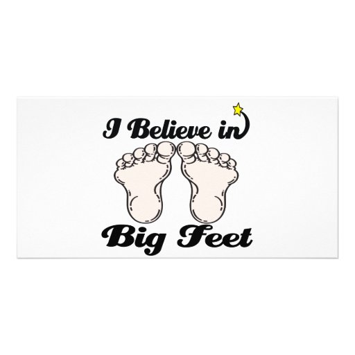 i believe in big feet personalized photo card