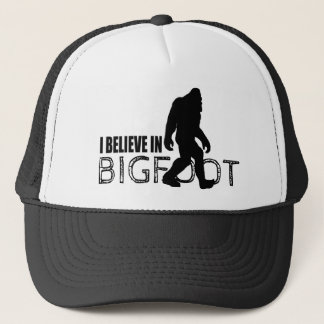 I Believe in Bigfoot  Funny Sasquatch Trucker Hat