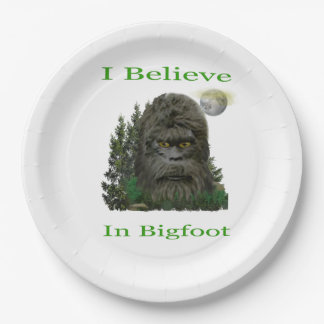 I believe in Bigfoot Paper Plate