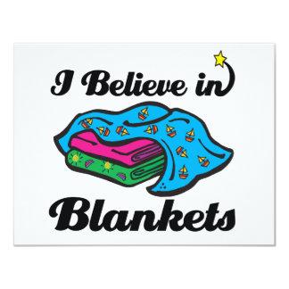 i believe in blankets 11 cm x 14 cm invitation card