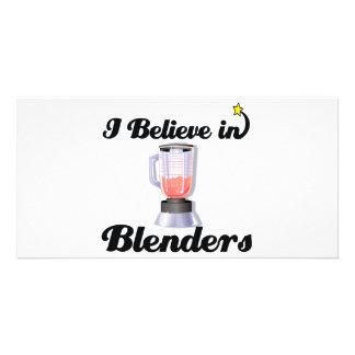i believe in blenders personalised photo card
