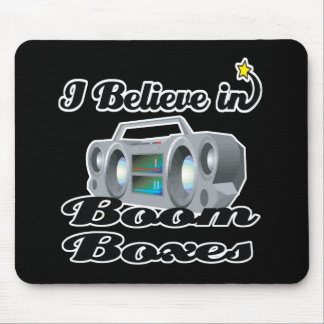 i believe in boom boxes mouse pad