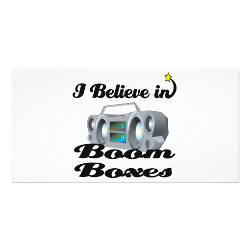 i believe in boom boxes photo card