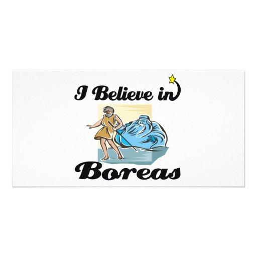 i believe in Boreas Custom Photo Card
