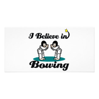 i believe in bowing custom photo card