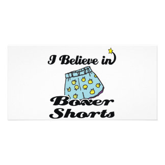i believe in boxer shorts custom photo card