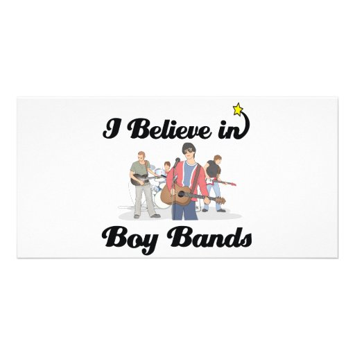 i believe in boy bands personalized photo card