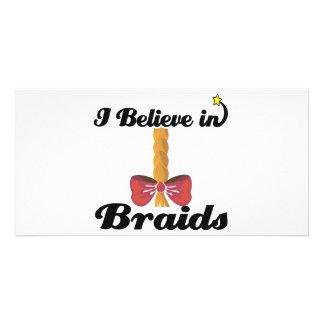 i believe in braids photo cards