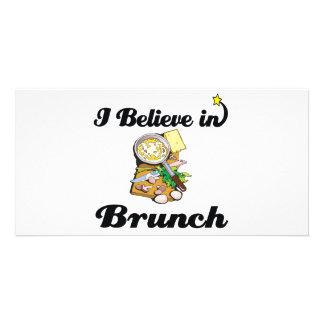 i believe in brunch custom photo card