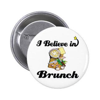 i believe in brunch pinback button