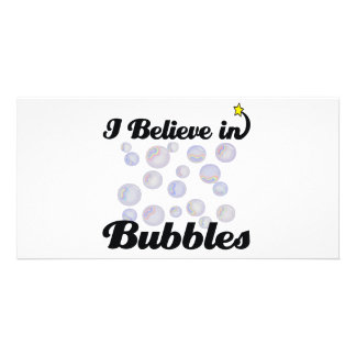 i believe in bubbles photo card template