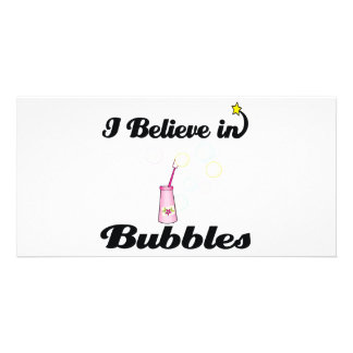 i believe in bubbles toy personalised photo card