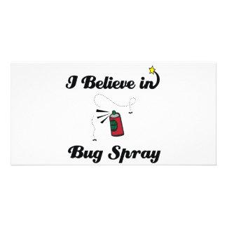i believe in bug spray photo greeting card