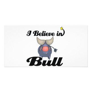 i believe in bull custom photo card
