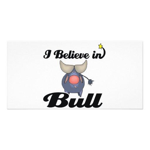 i believe in bull customized photo card