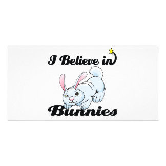 i believe in bunnies photo card template