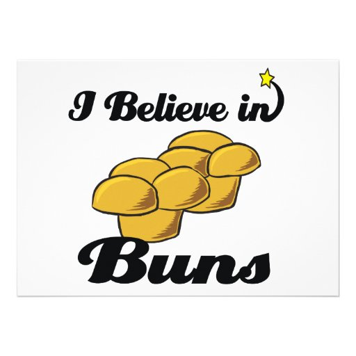 i believe in buns custom invitations