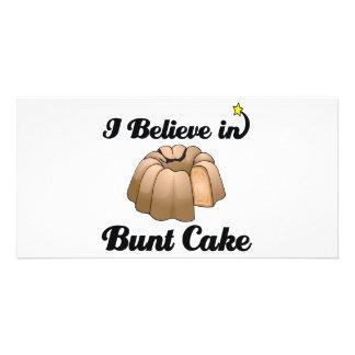 i believe in bunt cake picture card