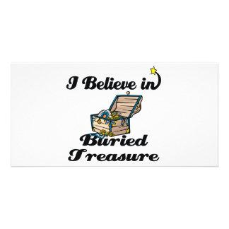 i believe in buried treasure custom photo card