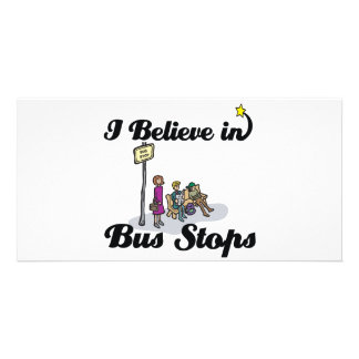 i believe in bus stops photo cards