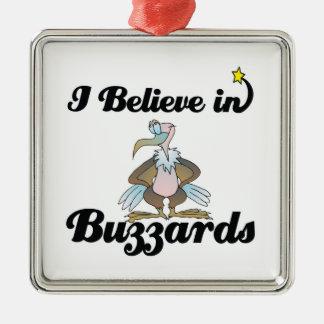 i believe in buzzards metal ornament