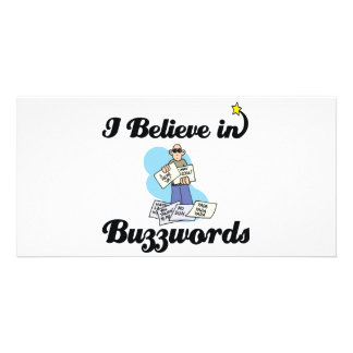 i believe in buzzwords photo card template