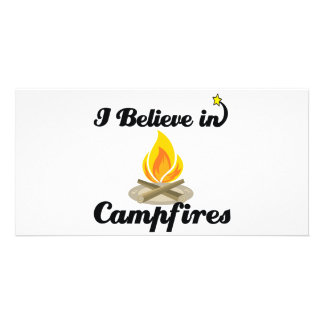 i believe in campfires photo greeting card