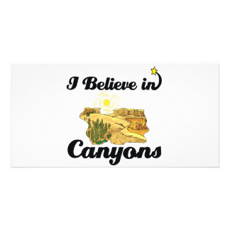 i believe in canyons photo card