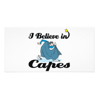 i believe in capes photo cards