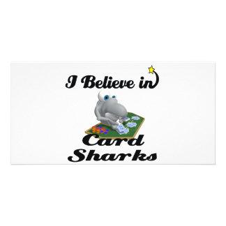 i believe in card sharks photo card