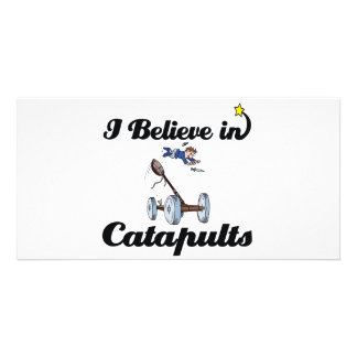 i believe in catapults photo card template