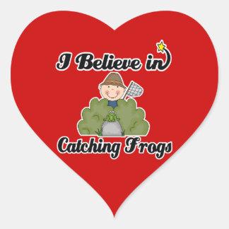 i believe in catching frogs sticker