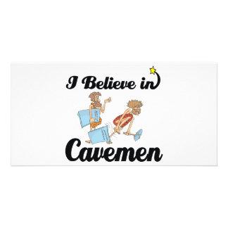 i believe in cavemen photo card template