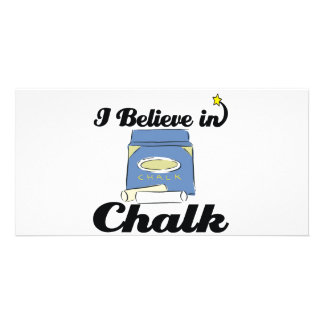 i believe in chalk personalised photo card