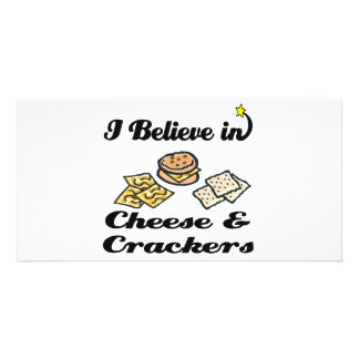 i believe in cheese and crackers photo card template