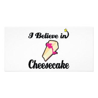 i believe in cheesecake photo card