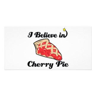 i believe in cherry pie personalized photo card