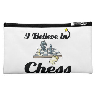 i believe in chess makeup bag