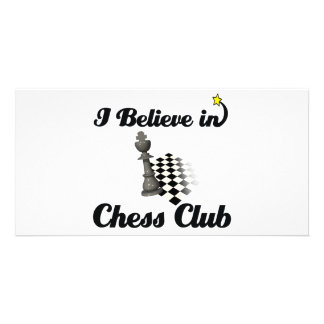 i believe in chess club picture card