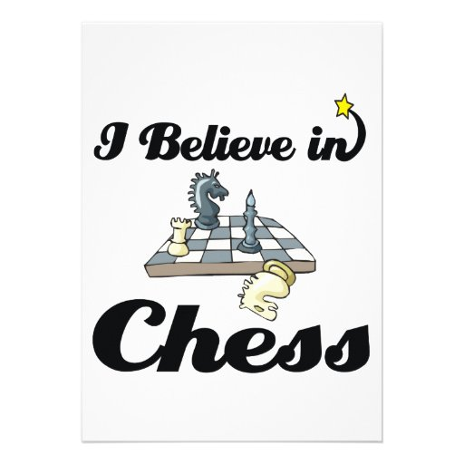 i believe in chess invitations